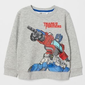 H&M transformers sweatshirt SZ 2-4years